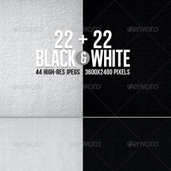 44 Black&White Textured BGs