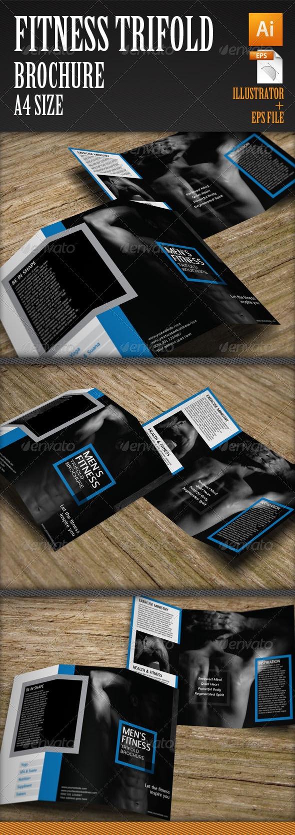 Men's Fitness Trifold Brochure Template - Corporate Brochures