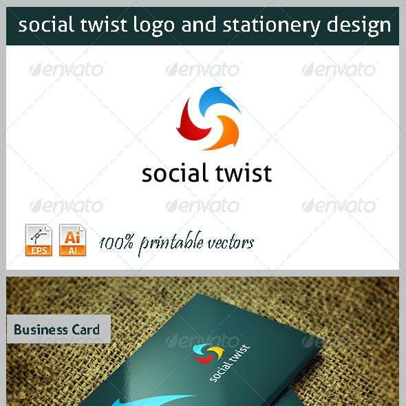 Social TwistLogo and Stationery