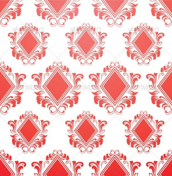 Red Diamond Pattern - Patterns Decorative