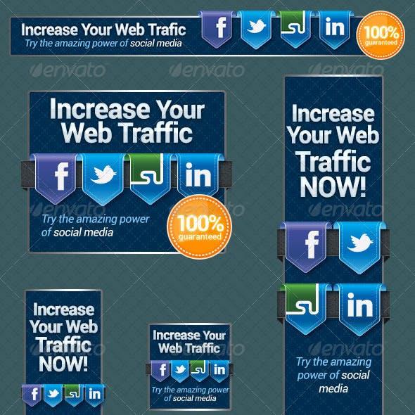 Social Media Web Banners Set