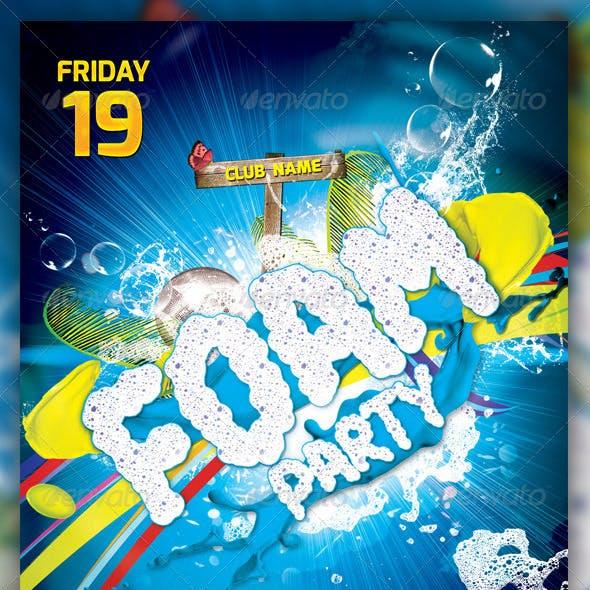 Foam Party Flayer Template