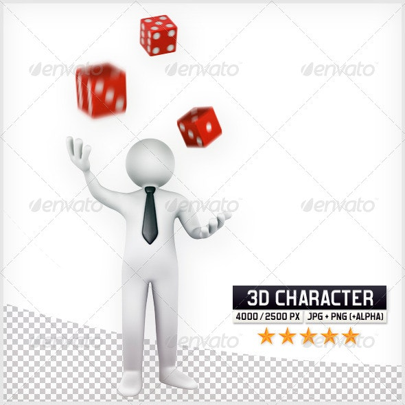 3D Puppet - Dices - Characters 3D Renders