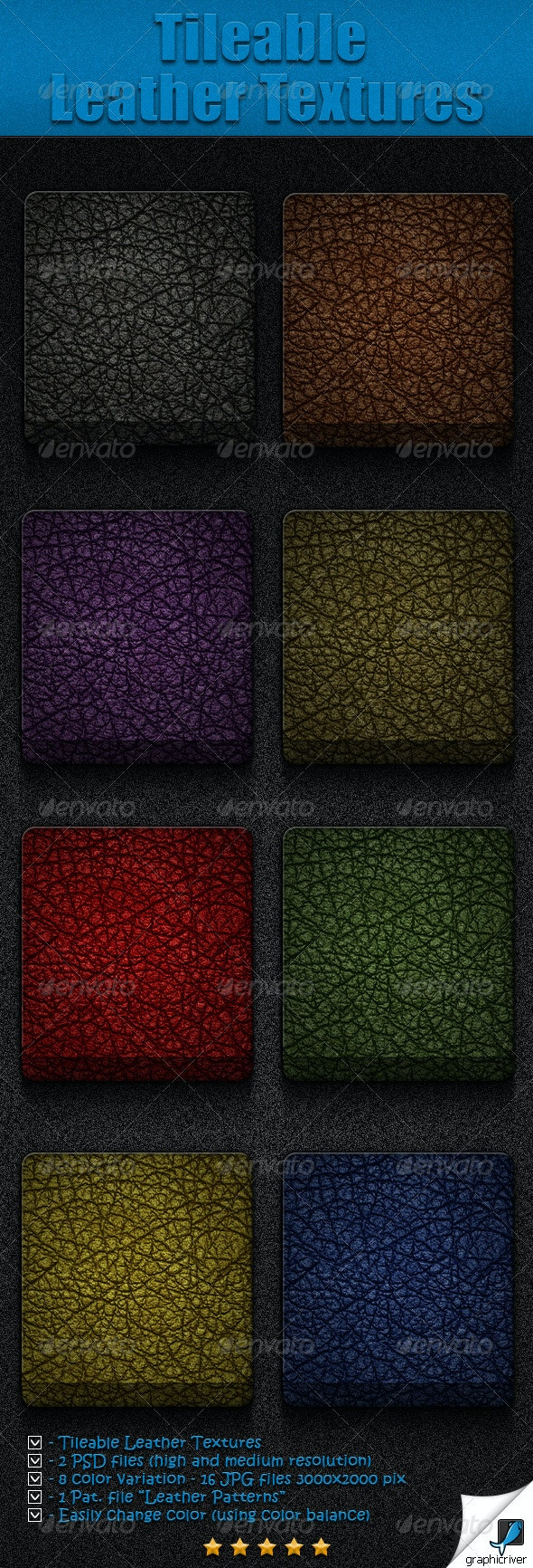 Tileable Leather Textures - Textures