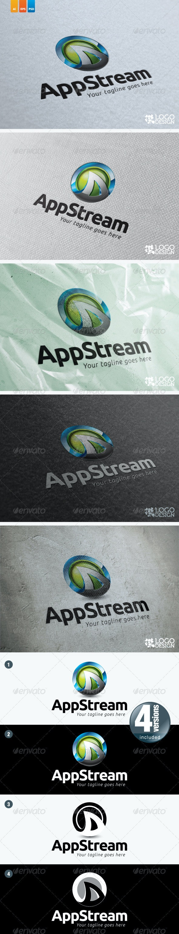 AppStream Logo - 3d Abstract