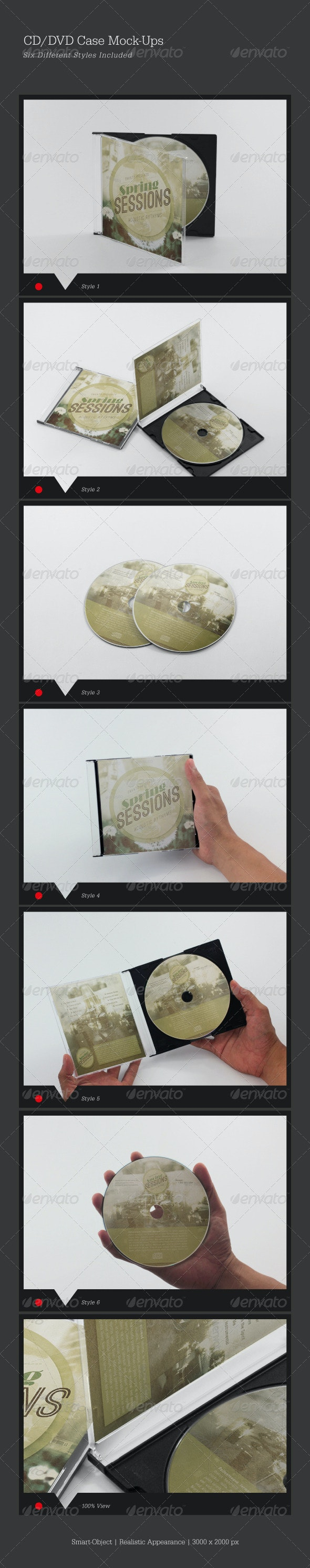 CD/DVD Cover Mock-Ups - Miscellaneous Product Mock-Ups