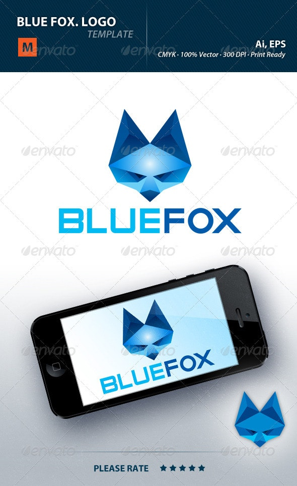 Bluefox Logo - Animals Logo Templates