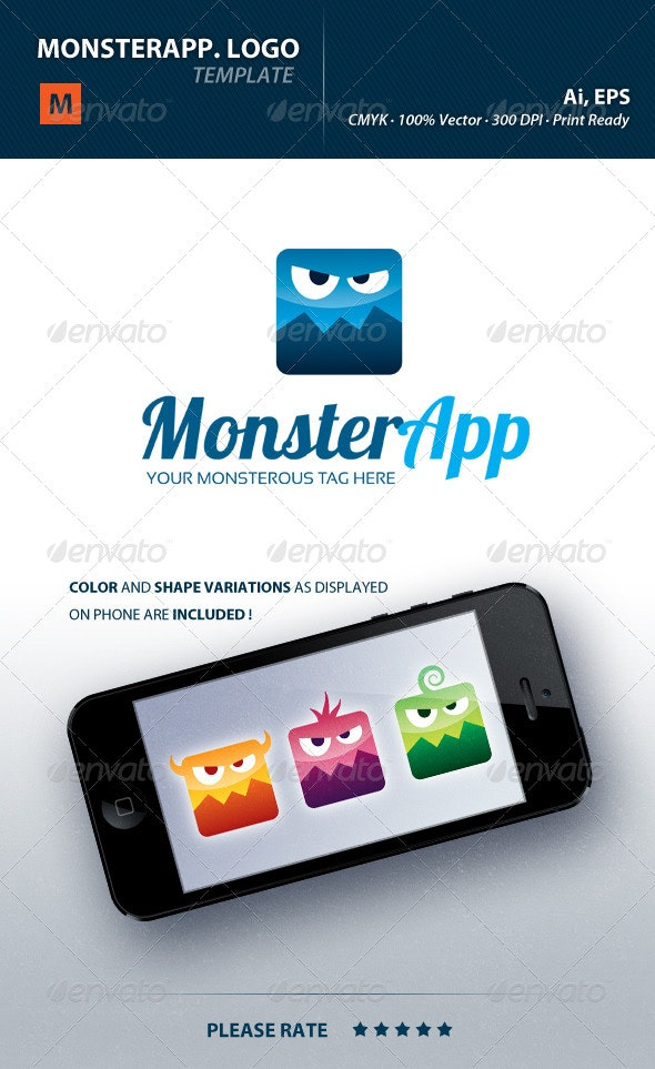 Monsterapp Logo - Symbols Logo Templates