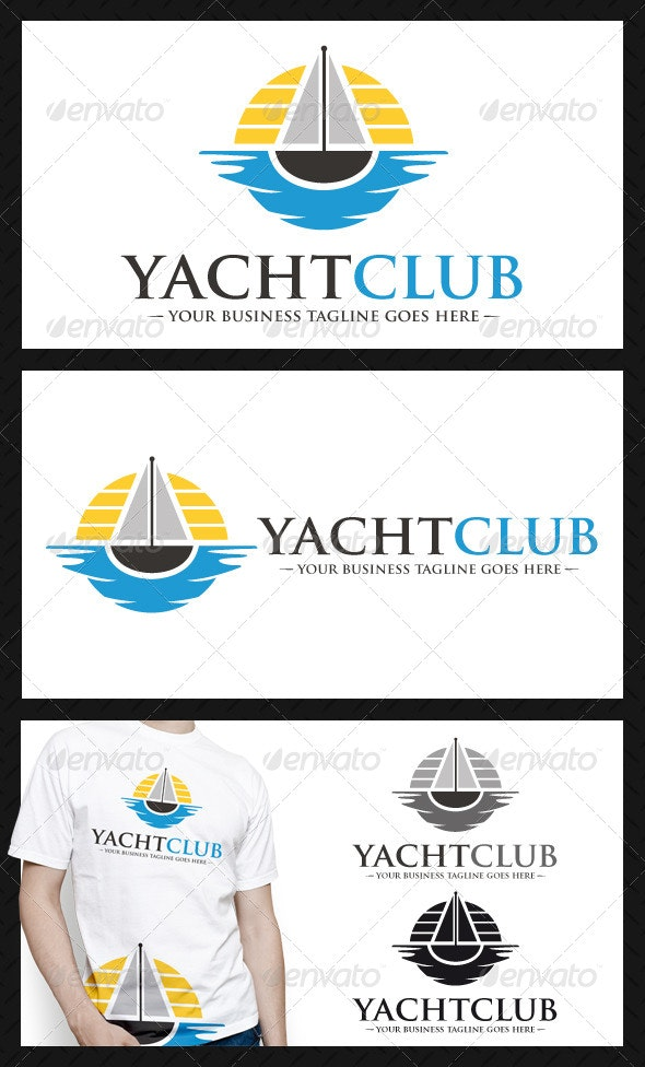 Yatch Club Logo Template - Objects Logo Templates