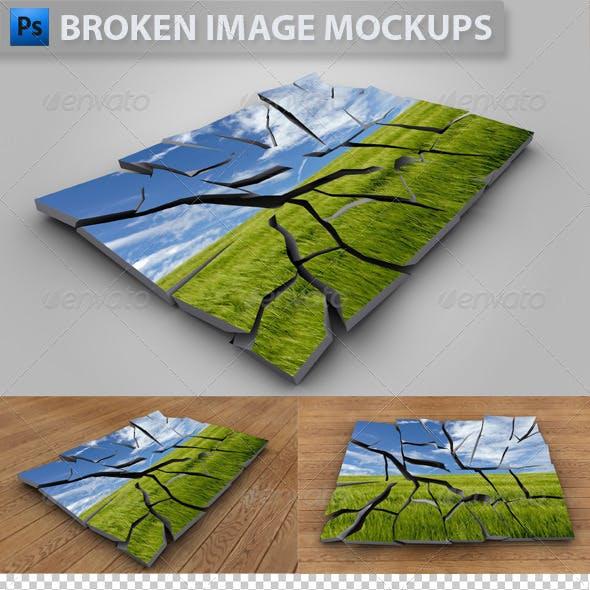 3D Broken Image Mockups