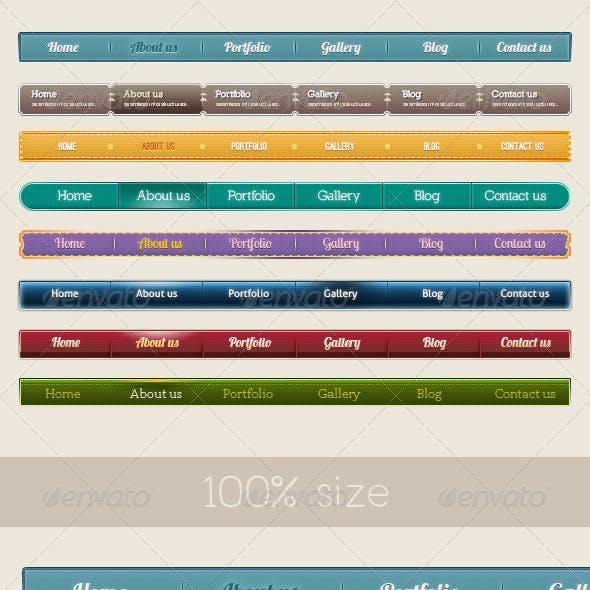 8 Style Navigation Bars