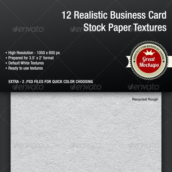 12 Realistic Business Card Stock Paper Textures