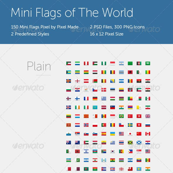 Mini Flags of The World