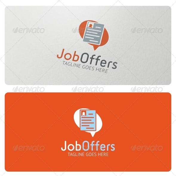 Job Offers Logo Template