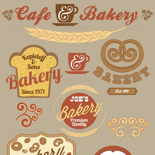 Bakery Logo Badges and Labels Set