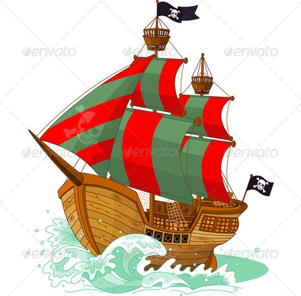Pirate Ship  - Man-made Objects Objects