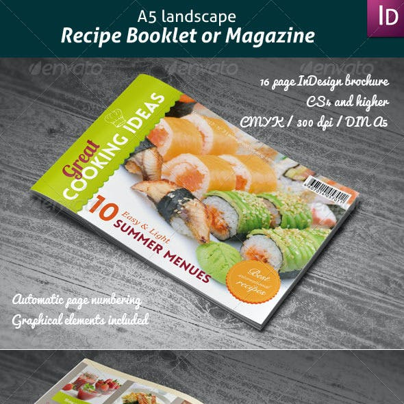 Recipes Booklet or Magazine