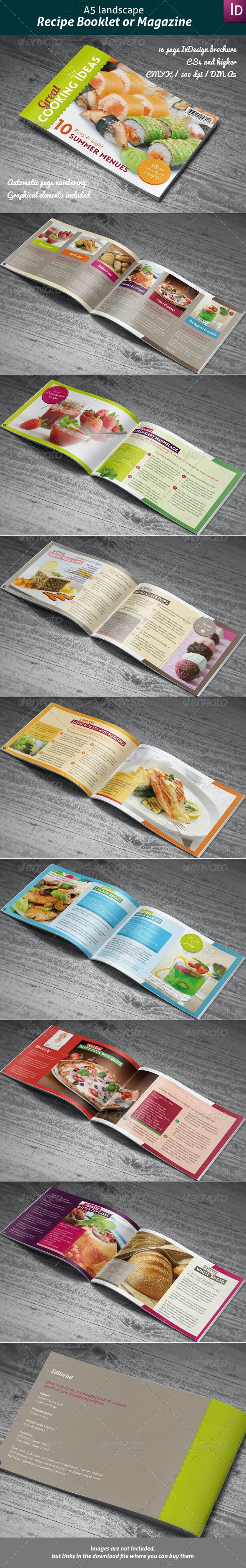 Recipes Booklet or Magazine - Informational Brochures