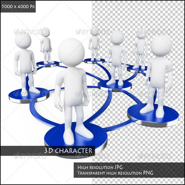 3D White People. Social Networks