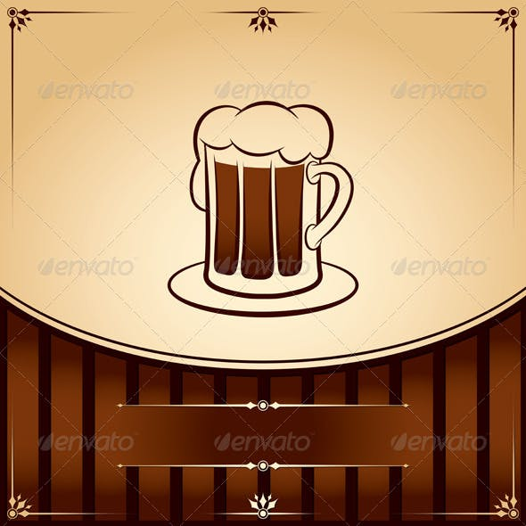 Beer Tankard Graphic with Place for Text