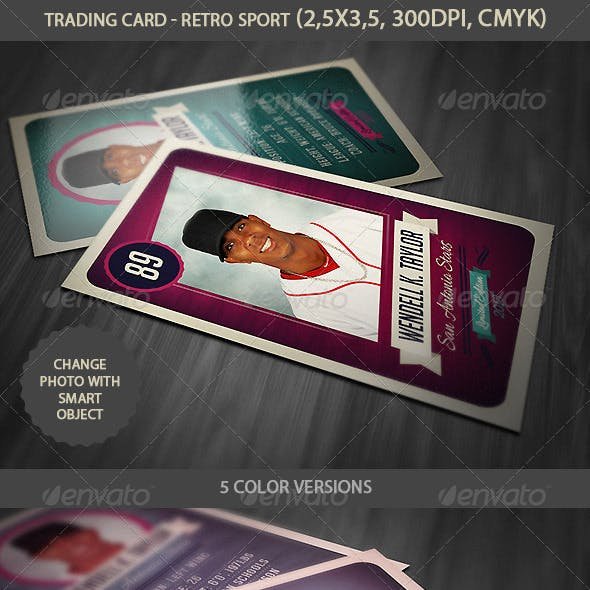 Trading Card - Retro Style