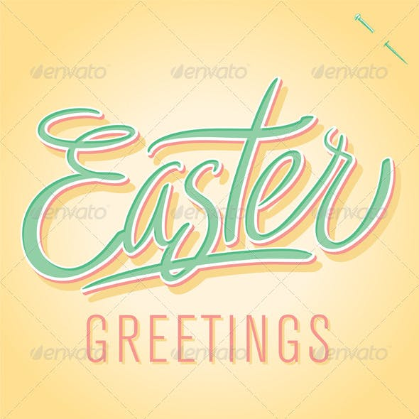 'Easter Greetings' Hand Lettering