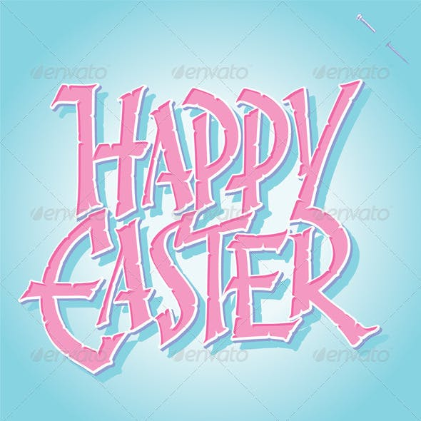 'Happy Easter' Hand Lettering