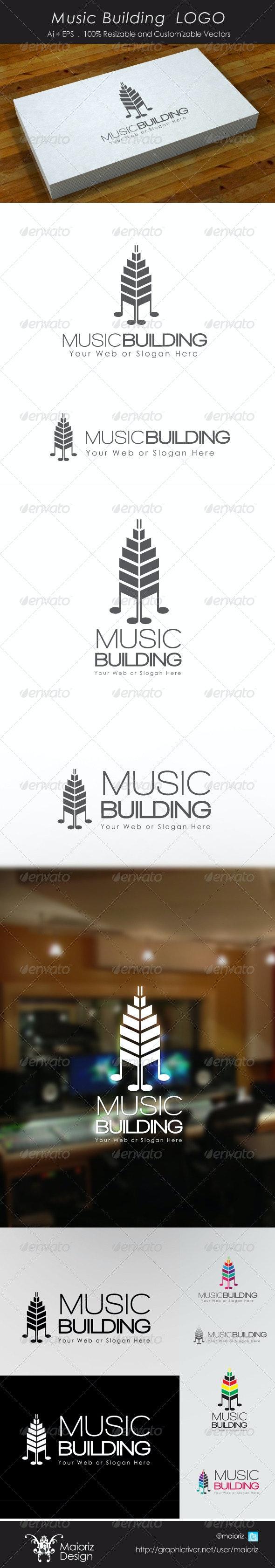 Music Building Logo - Buildings Logo Templates