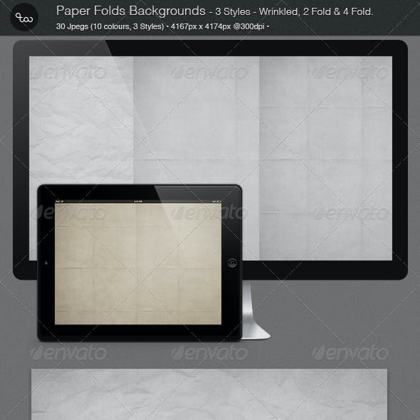 30 Paper Folds Backgrounds