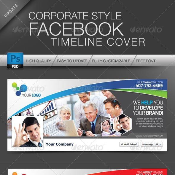 Facebook Cover Timeline Corporate Style