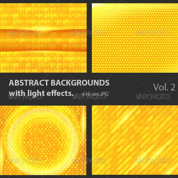 Abstract Backgrounds with Light Effects.