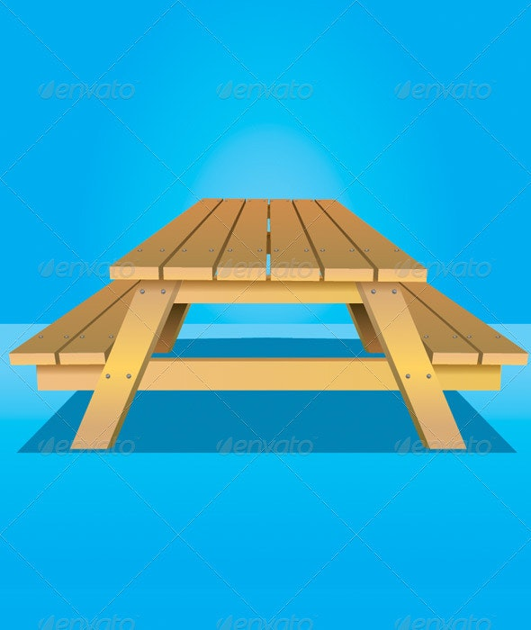 Picnic Table - Man-made Objects Objects