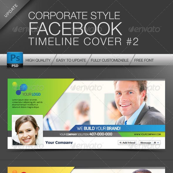 Facebook Cover Timeline Corporate Style No.2