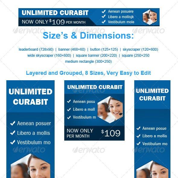 Web Hosting Banner Unlimited Curabit