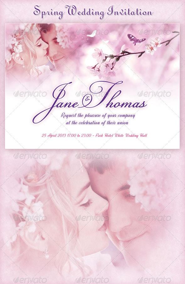 Spring Wedding Invitation - Weddings Cards & Invites