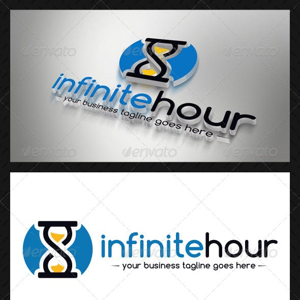 Infinite Hourglass Logo Template