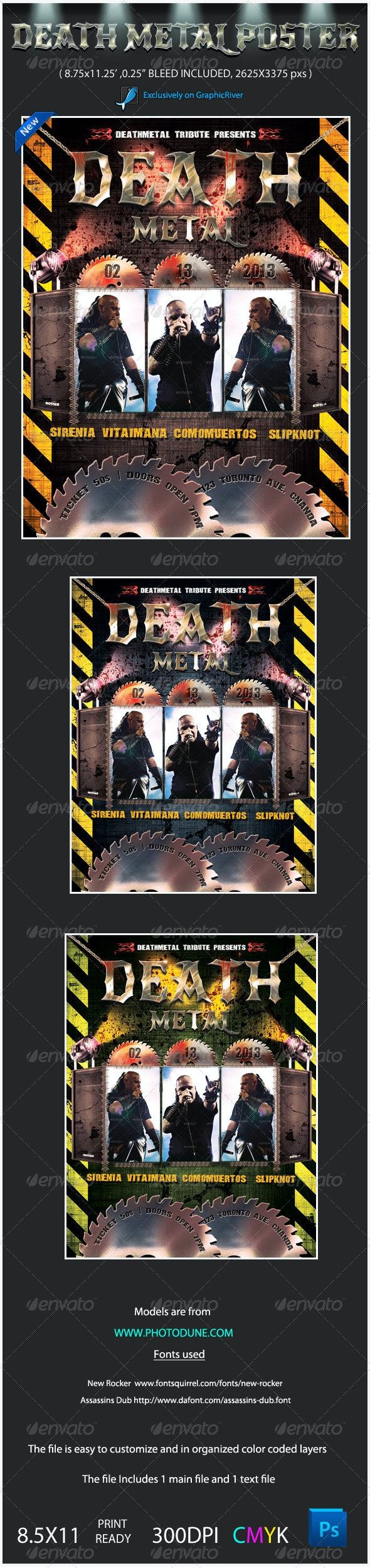 Death Metal Music Poster Template - Concerts Events