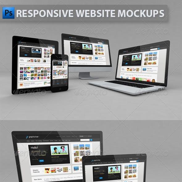 Responsive Website Mockups