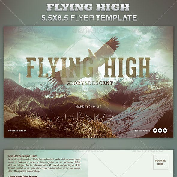 Flying High Church Flyer Template