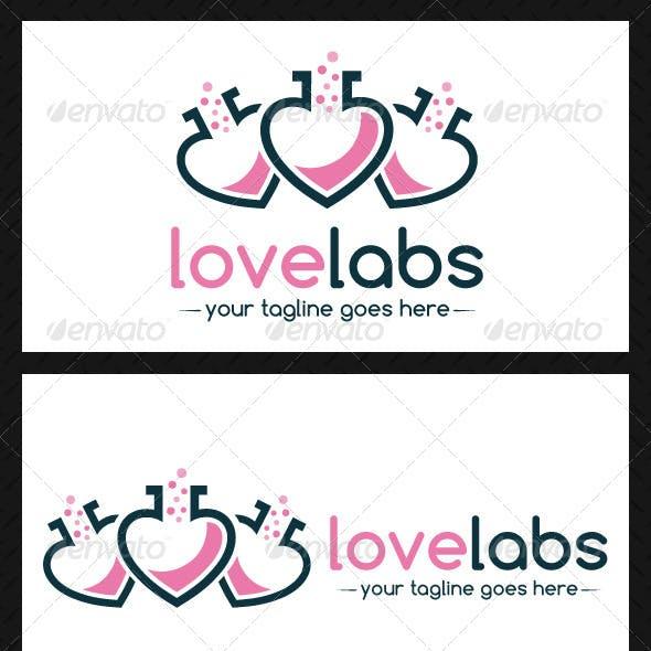 Love Lab Logo Template