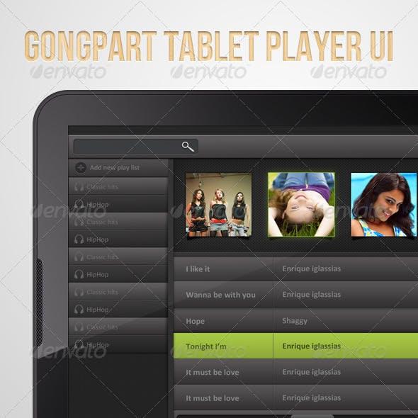 Gongpart : Tablet Player UI