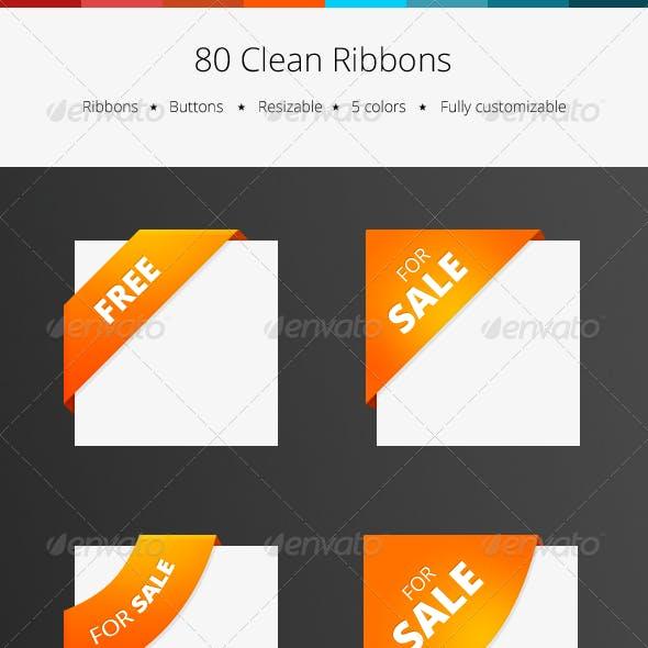 80 Clean Ribbons