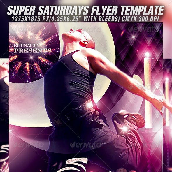 Super Saturdays Flyer Template