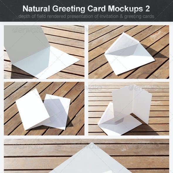 Natural Greeting Card Mockups 2
