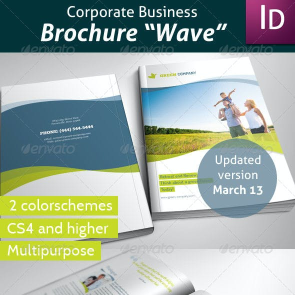 Business Brochure Wave
