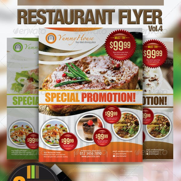 Restaurant Flyer Vol.4