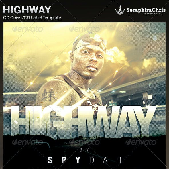 Highway: CD Cover Artwork Template