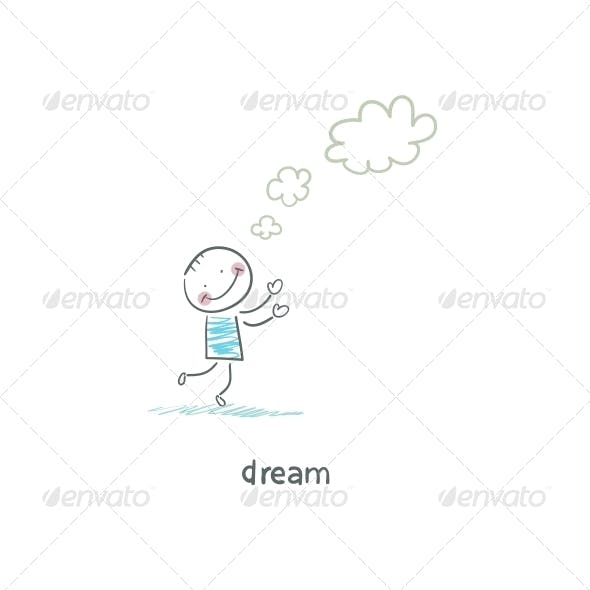 Dreamer. Illustration.