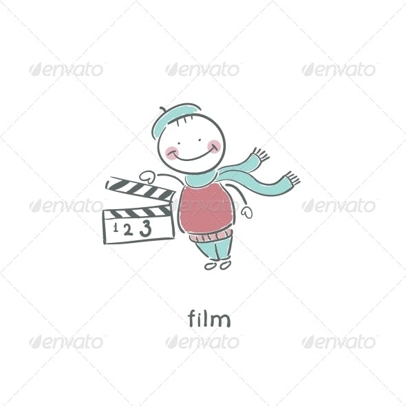 Blank Film Slate or Clapboard.