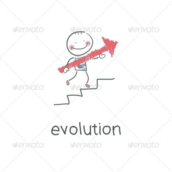 Evolution Career. Illustration